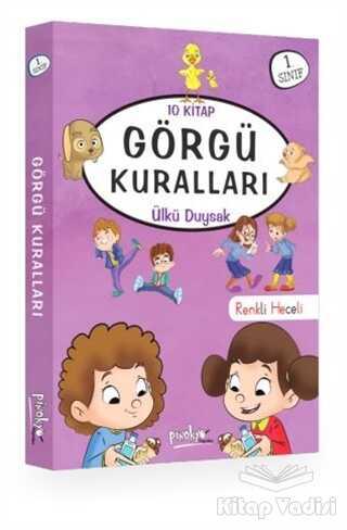 Pinokyo Yayınları - Özel Set - 1. Sınıf Görgü Kuralları Serisi (10 Kitap Takım)