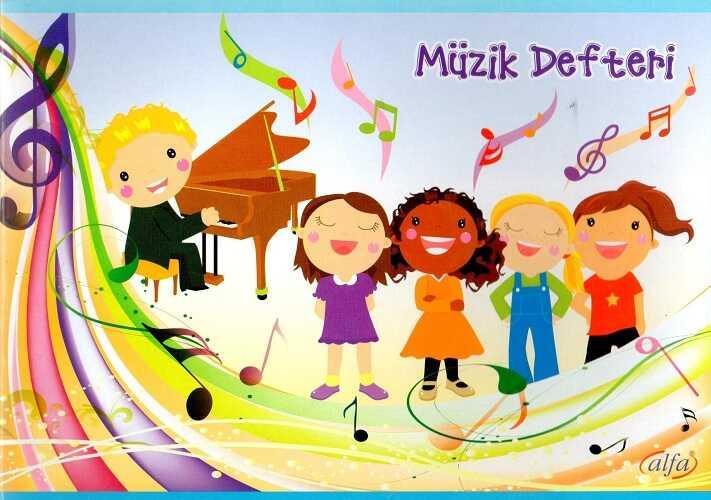 Alfa Defter - 20 Yaprak Küçük Müzik Defteri