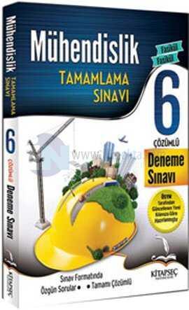 Kitapseç Yayınları - 2015 Mühendislik Tamamlama Sınavı Çözümlü 6 Deneme Sınavı