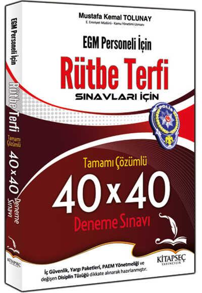 Kitapseç Yayınları - 2016 EGM Rütbe Terfi Tamamı Çözümlü 40x40 Deneme Sınavı