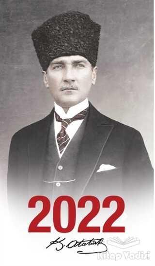 Halk Kitabevi - 2022 Atatürk Ajandası Kalpaklı - Çerçeveli