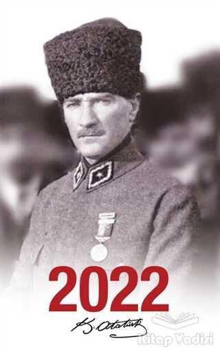 Halk Kitabevi - 2022 Atatürk Ajandası Madalya - Beyaz
