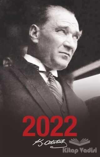 Halk Kitabevi - 2022 Atatürk Ajandası Portre - Siyah