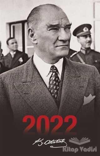 Halk Kitabevi - 2022 Atatürk Ajandası Sivil - Siyah