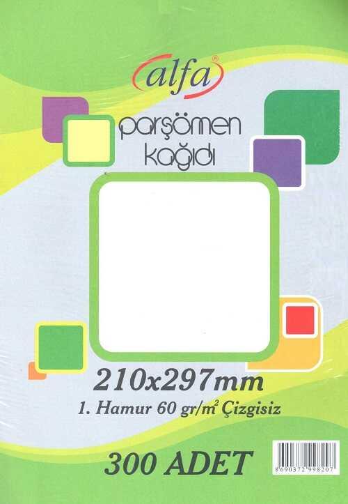 300 Adet Düz Standart Parşömen Kağıdı