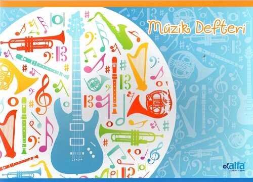 Alfa Defter - 40 Yaprak Küçük Müzik Defteri