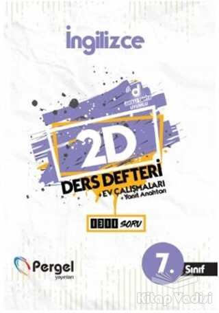 Pergel Yayınları - 7. Sınıf İngilizce 2D Ders Defteri