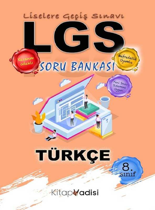 Kitap Vadisi Yayınları - 8. Sınıf LGS Türkçe Soru Bankası