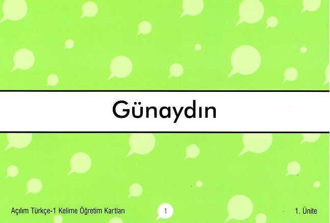 Dilset Açılım Türkçe Eğitim - Açılım Türkçe - 1 Kelime Öğretim Kartları