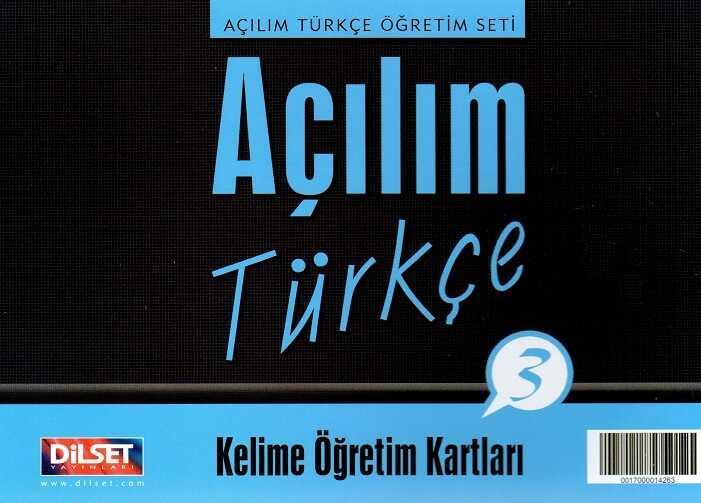 Dilset Açılım Türkçe Eğitim - Açılım Türkçe - 3 Kelime Öğretim Kartları
