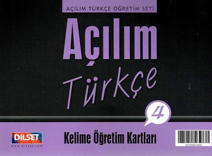 Dilset Açılım Türkçe Eğitim - Açılım Türkçe - 4 Kelime Öğretim Kartları