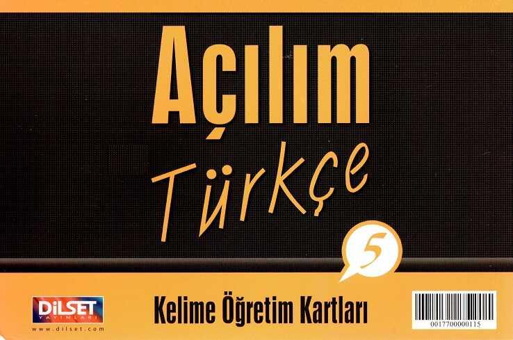 Dilset Açılım Türkçe Eğitim - Açılım Türkçe - 5 Kelime Öğretim Kartları