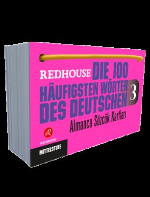 Redhouse Yayınları - Die 100 Häufigsten Wörter des Deutschen 3 - Almanca Sözlük Kartları