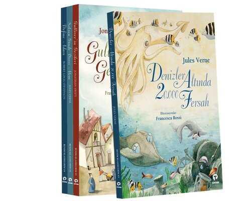 Turkuvaz Kitap - Çocuk Klasikleri Seti-Büyük Boy-4 Kitap Takım