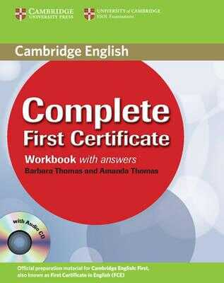Cambridge University Press - Complete First Certificate Workbook with Answers and Audio CD