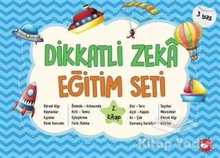 Beyaz Balina Yayınları - Dikkatli Zeka Eğitim Seti 2. Kitap (3 Yaş)