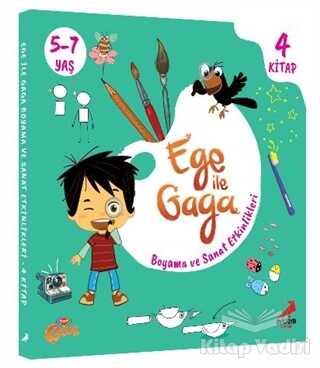 Erdem Çocuk - Ege ile Gaga - Boyama ve Sanat Etkinlikleri (4 Kitap Takım)