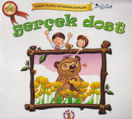 Safran Yayınları - Gerçek Dost - Kolay Ve Hızlı Okuma Serisi - Bitişik El Yazısı İle... / Safran Çocuk
