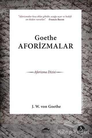 Maya Kitap - Goethe Aforizmalar