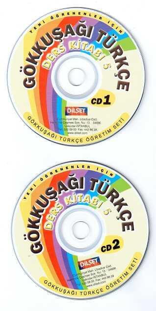 Dilset Gökkuşağı Türkçe Eğitim - Gökkuşağı Türkçe Ders Kitabı 5 (CD 1-2)