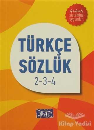 Parıltı Yayınları - İlköğretim Türkçe Sözlük 2-3-4
