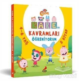 Erdem Çocuk - Kare ile Kavramları Öğreniyorum (5 kitap Takım)
