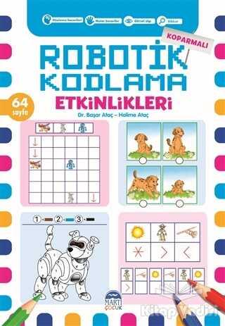 Martı Çocuk Yayınları - Koparmalı Robotik Kodlama Etkinlikleri - 4