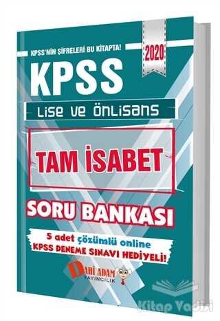 Dahi Adam Yayıncılık - KPSS 2020 Lise ve Önlisans Tam İsabet Soru Bankası