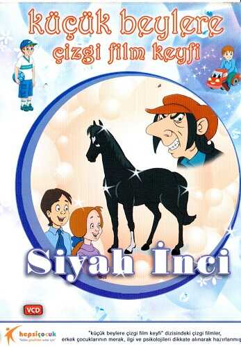 Hepsi Çocuk Yayınevi - Küçük Beylere Çizgi Film Keyfi Siyah İnci