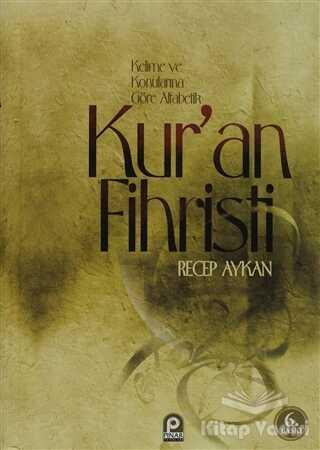 Pınar Yayınları - Kur'an Fihristi