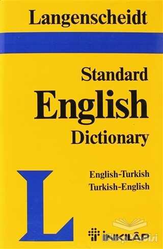 İnkılap Kitabevi - Langenscheid Standard English Dictionary English-Turkish Turkish-English