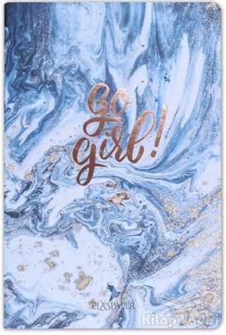 Ela's Paper - Marble Mavi Go Girl! Defter