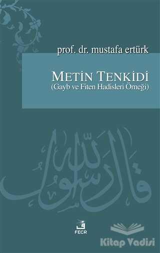 Fecr Yayınları - Metin Tenkidi