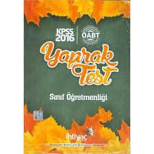 İhtiyaç Yayıncılık - 2016 KPSS ÖABT Sınıf Öğretmenliği Çek Kopart Yaprak Test