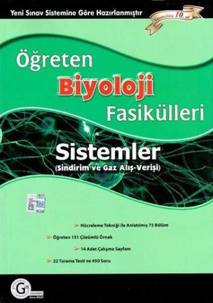 Gür Yayınları - Öğreten Biyoloji Fasikülleri Sistemler - Sindirim ve Gaz Alışverişi
