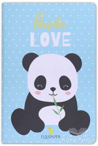Ela's Paper - Panda Love Mavi Defter