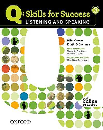 Oxford University Press - Q: Skills for Success 3 Listening & Speaking Student Book with Student Access Code Card