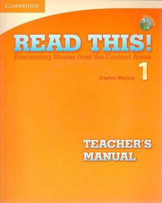 Cambridge University Press - Read This! Level 1 Teacher's Manual with Audio CD / CMB