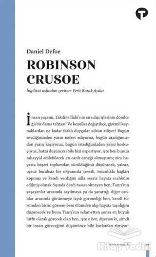 Turkuvaz Kitap - Robinson Crusoe