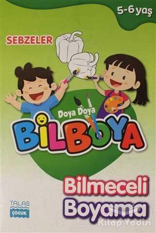 Talas Yayınları - Sebzeler - Doya Doya Bil Boya Bilmeceli Boyama (5-6 Yaş)