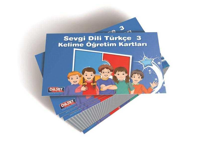 Sevgi Dili Türkçe - 3 Kelime Öğretim Kartları