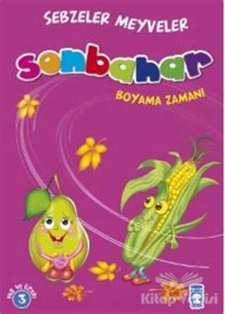 Timaş Çocuk - İlk Çocukluk - Sonbahar Boyama Zamanı - Sebzeler Meyveler