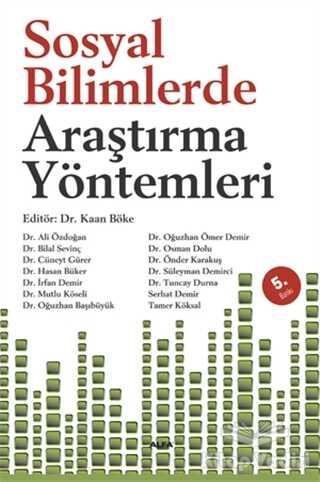 Alfa Yayınları - Ders Kitapları - Sosyal Bilimlerde Araştırma Yöntemleri