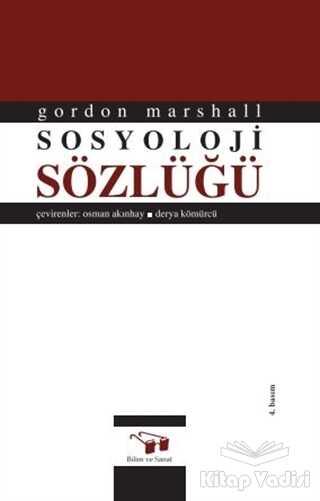 Bilim ve Sanat Yayınları - Sosyoloji Sözlüğü