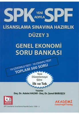 Akademi Consulting & Training - SPK SPF DÜZEY 3 GENEL EKONOMİ SORU / Akademi yay.
