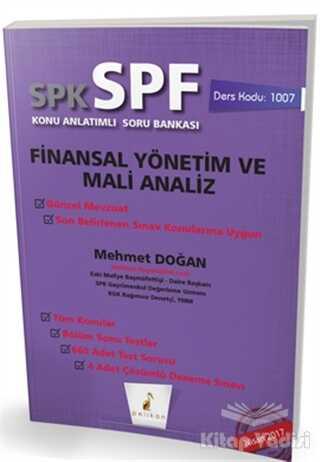 Pelikan Tıp Teknik Yayıncılık - SPK - SPF Finansal Yönetim ve Mali Analiz Konu Anlatımlı Soru Bankası