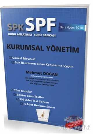 Pelikan Tıp Teknik Yayıncılık - SPK - SPF Kurumsal Yönetim Konu Anlatımlı Soru Bankası
