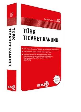 Beta Yayınevi - Türk Ticaret Kanunu (Cep Boy)