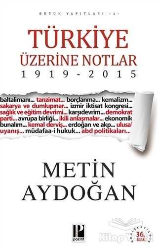 Pozitif Yayınları - Türkiye Üzerine Notlar