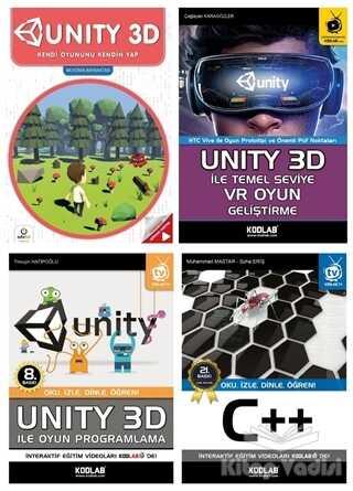 Kodlab Yayın Dağıtım - Unity 3D Eğitim Seti (4 Kitap Takım)